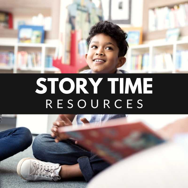 Story Time Resources - Children sitting with book